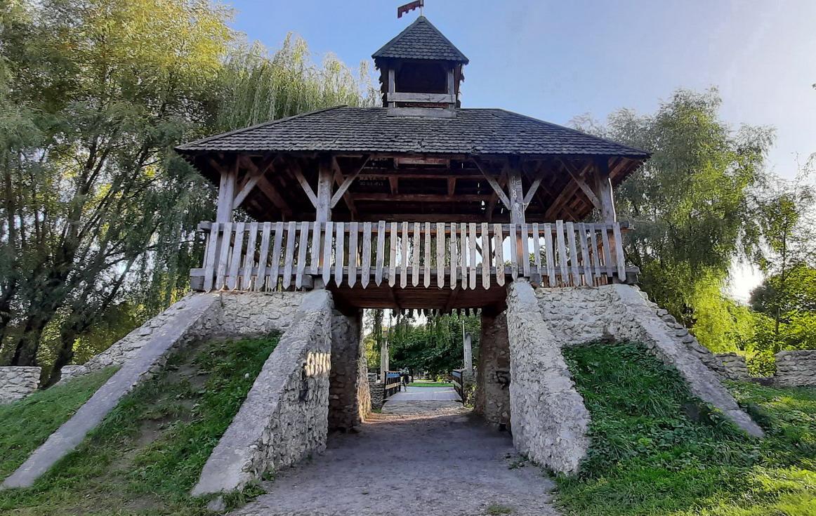 Парк Топільче, Козацький острів